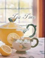 Tea Time Greyscale Coloring Book