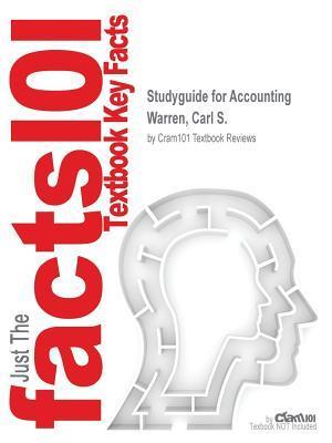 Bog, paperback Studyguide for Accounting by Warren, Carl S., ISBN 9781285997216 af Cram101 Textbook Reviews