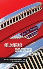 Classic British Cars Pocket Monthly Planner 2017