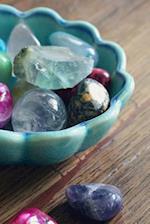 Crystal Gem Stones in a Blue Bowl Journal