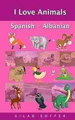 I Love Animals Spanish - Albanian