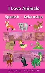 I Love Animals Spanish - Belarusian