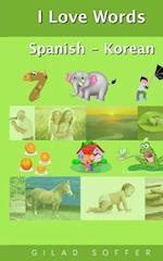 I Love Words Spanish - Korean