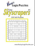 Brainy's Logic Puzzles Easy Skyscrapers #1 200 9x9 Puzzles