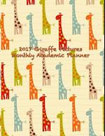 2017 Giraffe Pictures Monthly Academic Planner