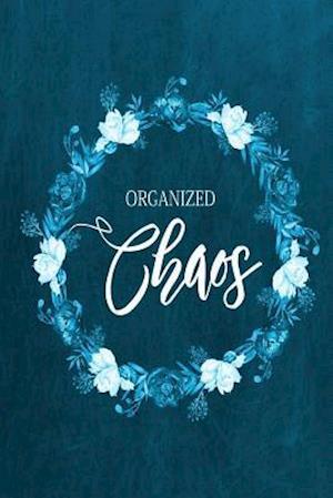 Bog, paperback Chalkboard Journal - Organized Chaos (Aqua) af Marissa Kent