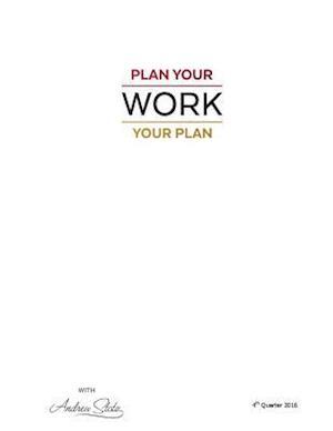 Bog, paperback Plan Your -Work- Your Plan af Dr Andrew Stotz Cfa