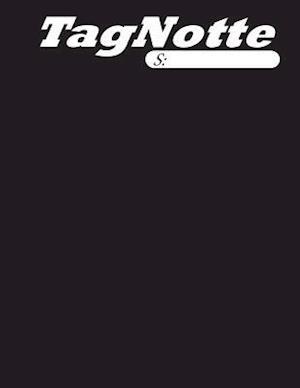 Bog, paperback Tagnotte, Dotted Line, 1 Subject, College, 80 Page Notebook Black