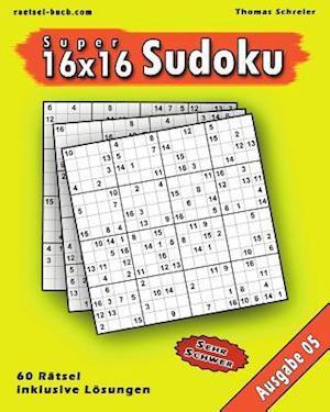 Bog, paperback 16x16 Super-Sudoku Ausgabe 05 af Thomas Schreier