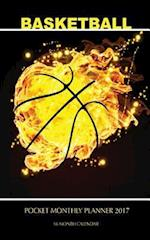 Basketball Pocket Monthly Planner 2017