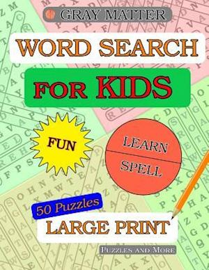 Bog, paperback Word Search Puzzles for Kids - Themes, Jokes, Fun Facts af Puzzles and More