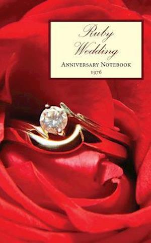 Bog, paperback Ruby Wedding Anniversary Notebook 1976 af Montpelier Publishing