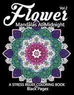 Flower Mandalas at Midnight Vol.3 af Relax Team