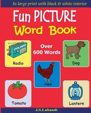 Bog, paperback Fun Picture Word Book (Black & White) af J. S. Lubandi