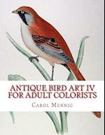 Antique Bird Art IV - For Adult Colorists