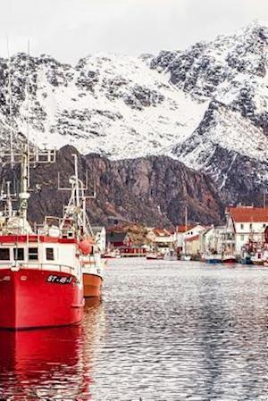 Bog, paperback Henningsvaer Harbor in Lofoten, Norway af Unique Journal