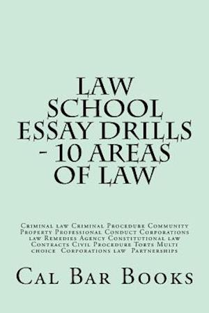 Bog, paperback Law School Essay Drills - 10 Areas of Law af Cal Bar Books