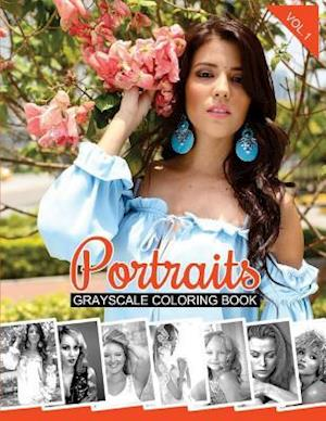 Bog, paperback Portraits Grayscale Coloring Book Vol.1 af Gabrielle Adelle