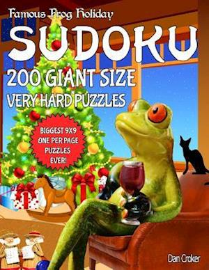 Bog, paperback Famous Frog Holiday Sudoku 200 Giant Size Very Hard Puzzles, the Biggest 9 X 9 One Per Page Puzzles Ever! af Dan Croker