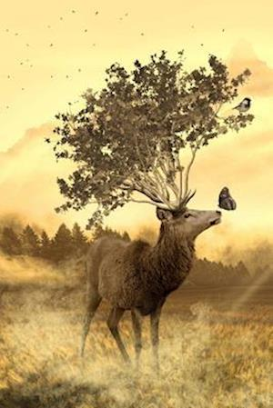 Bog, paperback A Deer Growing a Tree Instead of Antlers, Art and Nature af Unique Journal