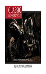 Classic Motorcycles Pocket Monthly Planner 2017