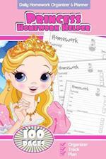 Daily Homework Organizer & Planner Princess Homework Helper