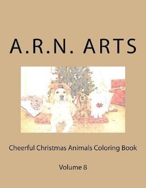 Bog, paperback Cheerful Christmas Animals Coloring Book af A. R. N. Arts