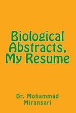 Biological Abstracts, My Resume