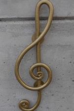 Elegant Gold Treble Clef Music Journal