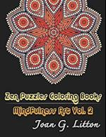 Zen Puzzles Coloring Books Mindfulness Vol. 2