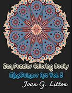 Zen Puzzles Coloring Books Mindfulness Vol. 5