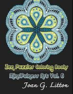 Zen Puzzles Coloring Books Mindfulness Vol. 6