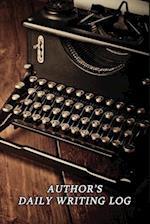 Author's Daily Writing Log