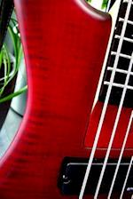 Red Bass Guitar Musical Instrument Journal