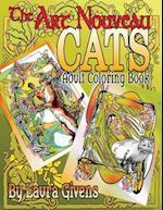 The Art Nouveau Cats Adult Coloring Book