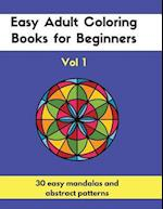 Easy Adult Coloring Books for Beginners Vol. 1 af Notandum Publishing
