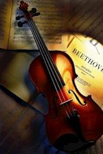 Violin Over Sheet Music Journal