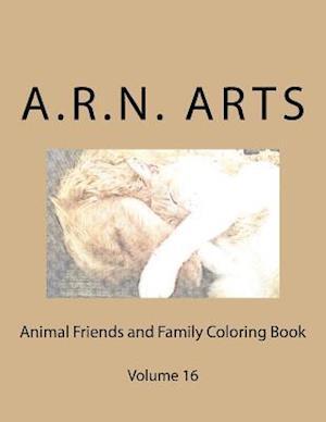 Bog, paperback Animal Friends and Family Coloring Book af A. R. N. Arts