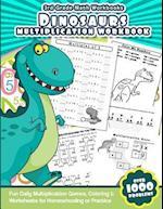 3rd Grade Math Workbooks Dinosaurs Multiplication Workbook