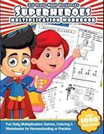 3rd Grade Math Workbooks Superheroes Multiplication Workbook