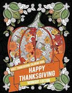 Adult Thanksgiving Coloring Book