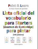 Lista Oficial del Vocabulario Para Starters (Examen de Cambridge)