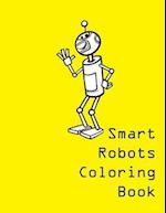 Smart Robots Coloring Book