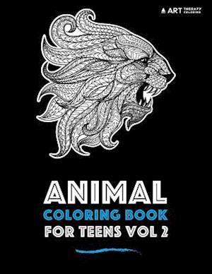 Bog, paperback Animal Coloring Book for Teens Vol 2 af Art Therapy Coloring
