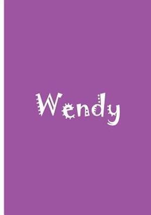 Bog, paperback Wendy - Bright Pink Personalized Notebook / Lined Pages / Soft Matte af Ethi Pike