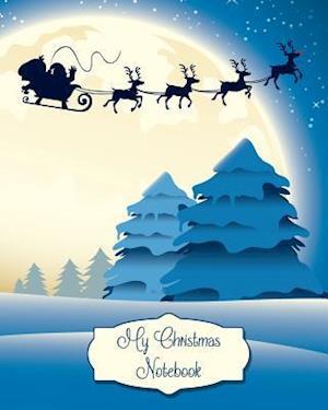 Bog, paperback Christmas Sky Notebook, Holiday Notes, Lined Notebook / Journal for Christmas af N. Brown