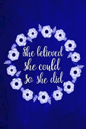 Bog, paperback Chalkboard Journal - She Believed She Could So She Did (Blue) af Marissa Kent