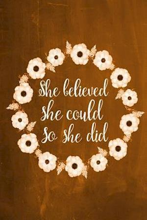 Bog, paperback Chalkboard Journal - She Believed She Could So She Did (Orange) af Marissa Kent