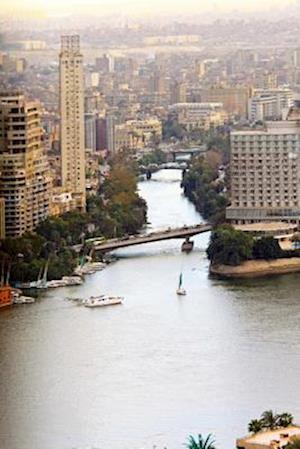 Bog, paperback Aerial View of the Nile River Delta in Cairo Egypt Journal af Cool Image