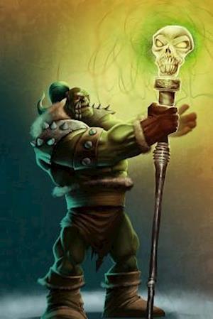 Bog, paperback Strong Shaman Orc with Magical Staff Journal af Cool Image
